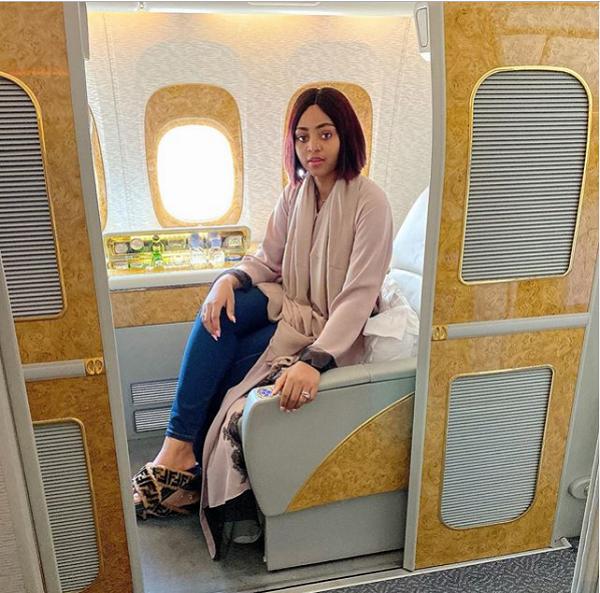 Regina-Daniels-in-private-jet