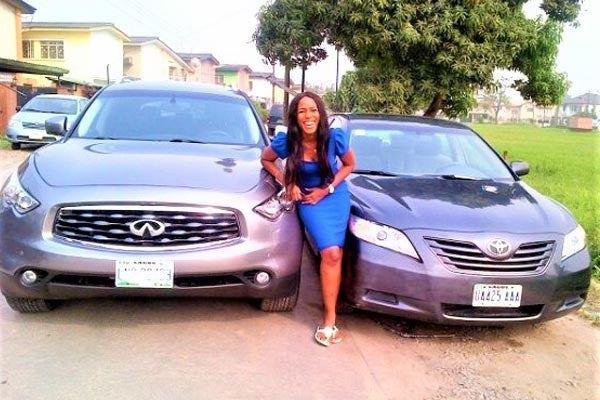 Linda-Ikeji's-Infinity-FX35-and-Toyota-Camry
