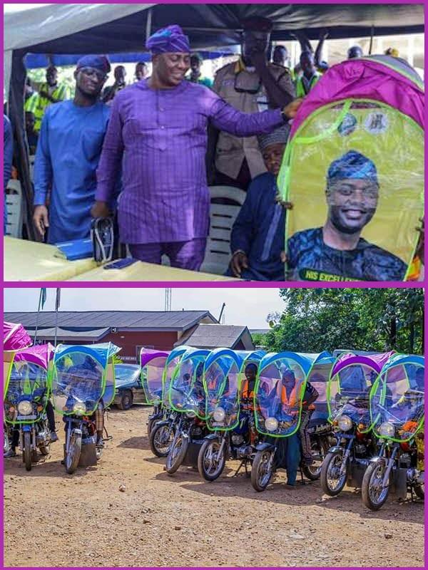 Seyi-Makinde-introduces-shelter-kits-for-Okada-riders-in-Oyo