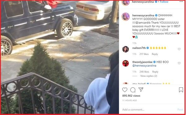 Cardi-B-sister-receives-car-gift