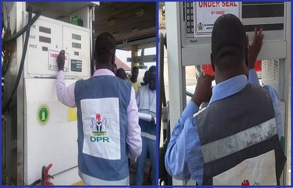 DPR-officials-sealing-off-a-filling-station-in-Gombe