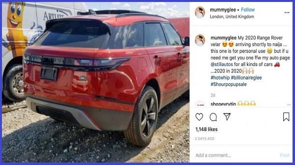 MummyGlee-flaunt-2019-Range-Rover-Velar-SUV-on-Instagram