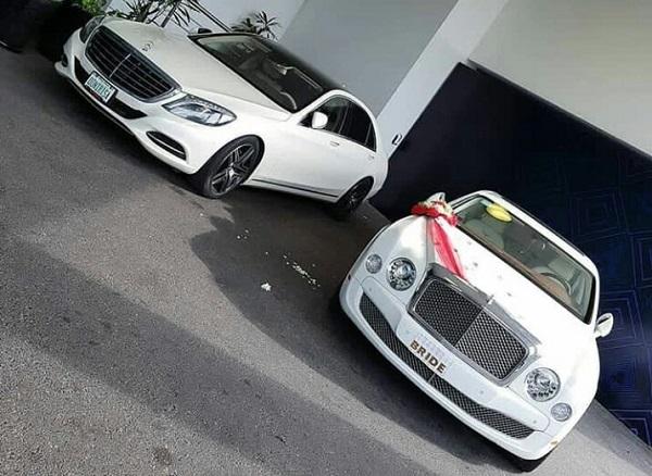 Mercedes-Benz-S-Class-and-Bentley-Mulsanne-at-Sandra-Ikeji-wedding