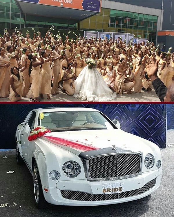 Sandra-Ikeji-200-bridesmaids-and-Bentley-Mulsanne-Wedding-car