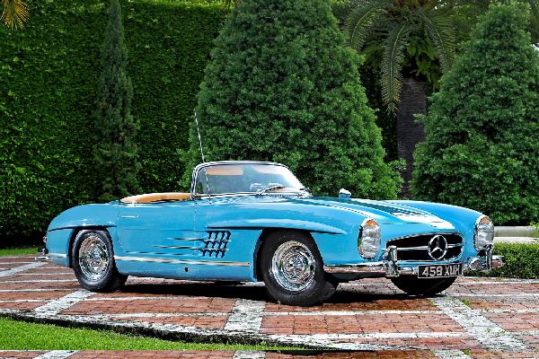 blue-Mercedes-Benz-300-SL-Roadster