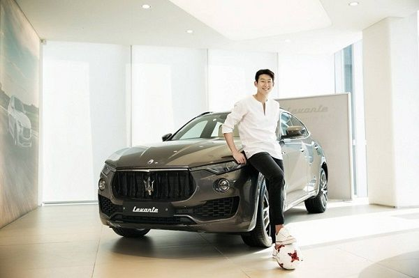 son-and-his-Maserati -Levante