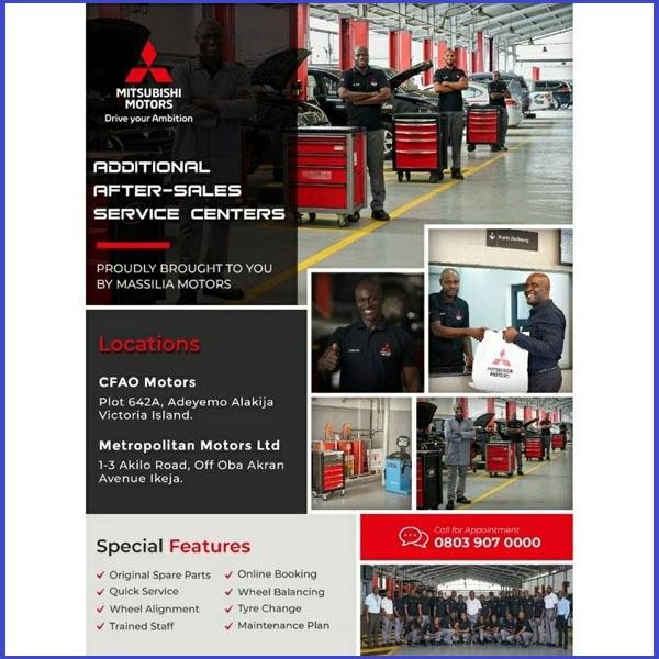 Mitsubishi-Motors-Nigeria-opens-service-centers-in-Lagos