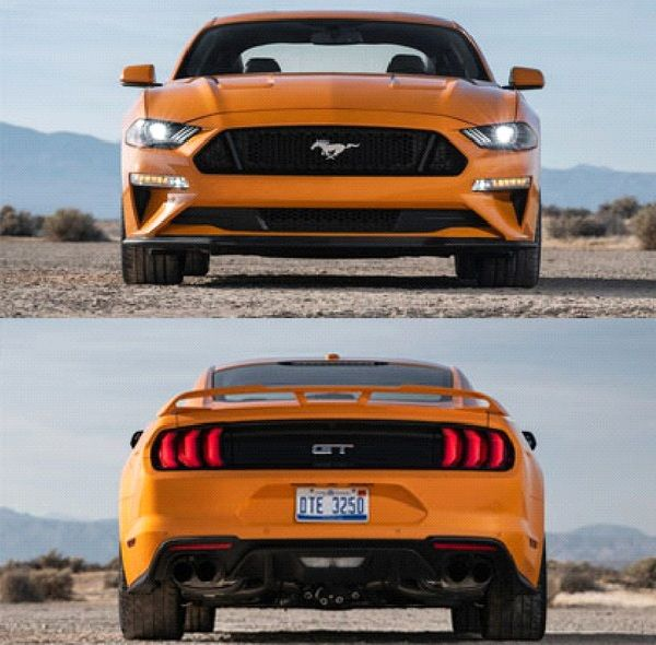 front-and-rear-of-a-mustang
