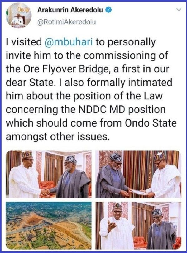 Ondo-governor-twitter-post-about-Ore-flyover-commissioning