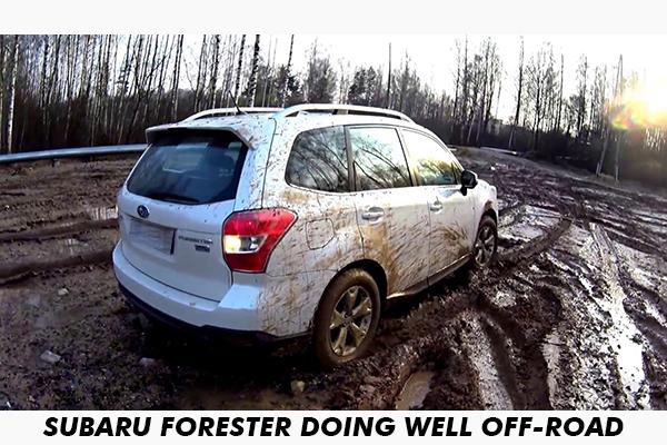 Subaru-forester-maneuver-through-mud