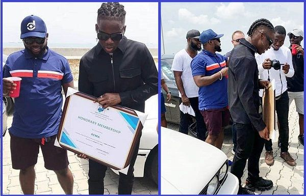 Rema-of-Mavin-Records-gets-BMW-Club-Nigeria-membership