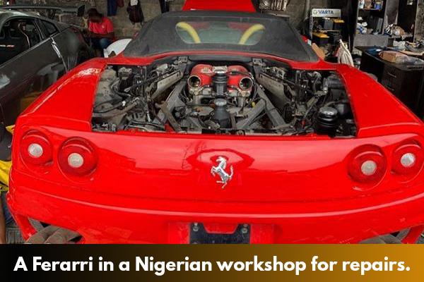 A-Ferarri-at-a-car-workshop-in-Lagos