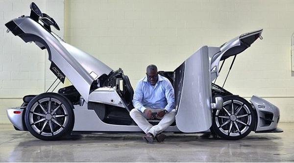 Obi-Okeke-posing-with-a-CCXR-Trivetta-Koenigsegg-bought-by-Floyd-Mayweather-popular-boxer
