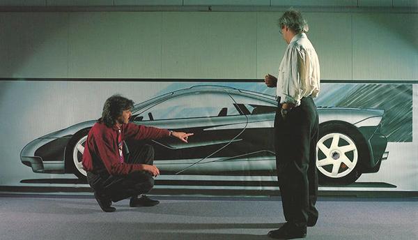 Gordon-Murray-showing-Ron-Dennis-the-F1-design