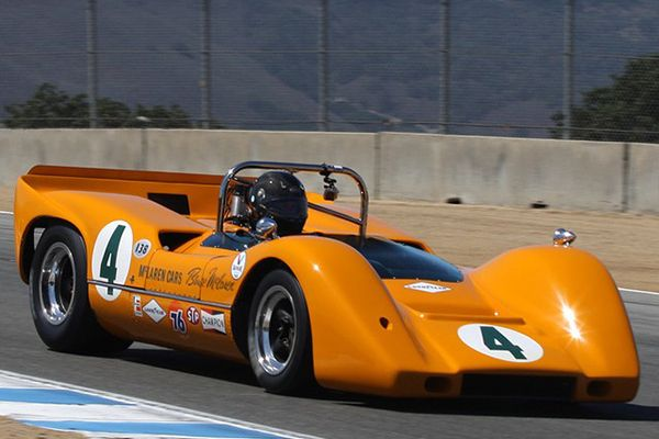 A-classic-McLaren-race-car-in-action