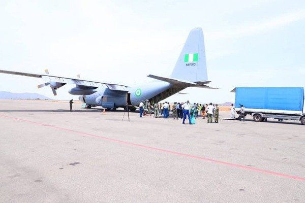 image-of-airforce-airlift-jack-ma-medical-supplies-to-Abuja