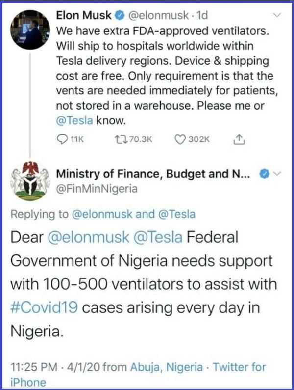 Nigeria-Ministry-of-Finance-begs-Elon-Musk-for-free-ventilators