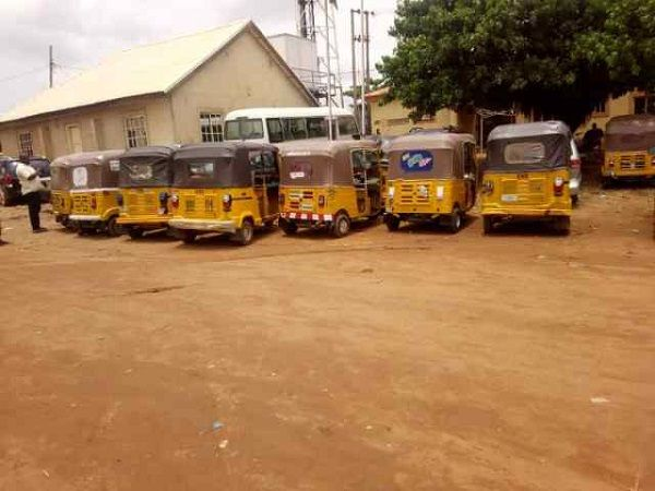 FCT-police-impounds-cars-motorcycles-and-tricycles-during-lockdown
