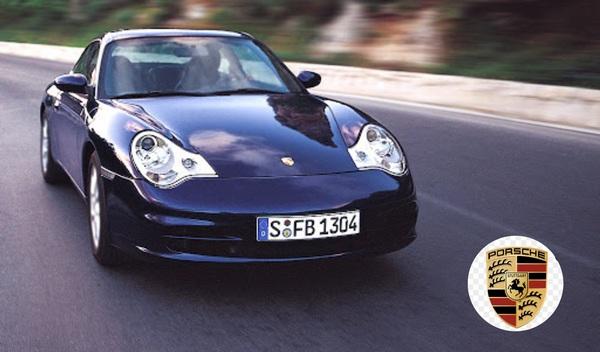 a-Porsche-running-on-the-road
