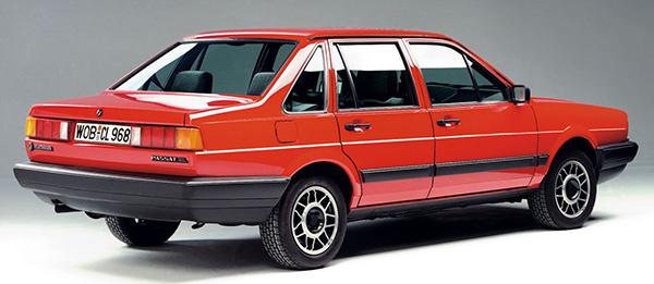 Old-Volkswagen-Passat-saloon-car