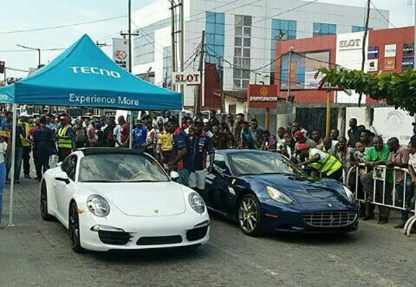 A-Ferrari-California-about-to-race-a-Porsche-911-in-Lagos-Nigeria