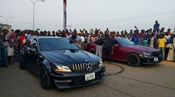 Two-Mercedes-Benz-C63-AMG-about-to-drag-race-in-Abuja