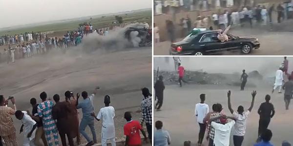 Abuja-rich-kids-stunting-cars-before-a-car-race