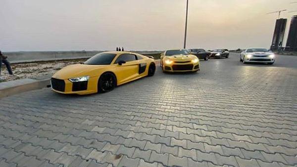 Performance-cars-gathered-at-Eko-Atlantic-grounds-Lagos