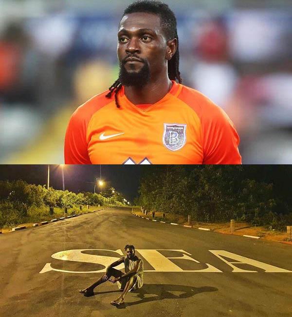 African-Football-star-Emmanuel-Adebayor-poses-on-road-named-after-him