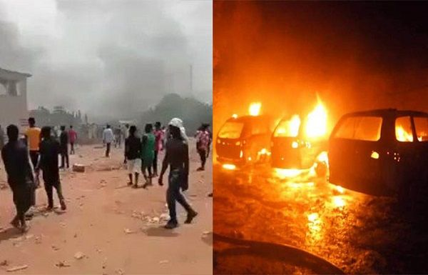 Casual-workers-burn-Ogun-based-Chinese-company-vehicle-in-violent-protest