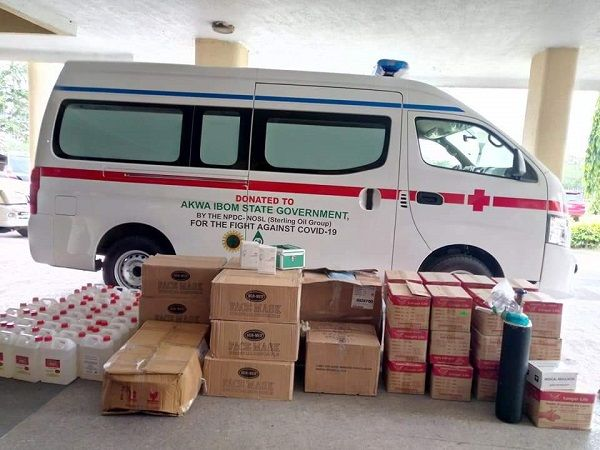 NPDC-and-NOSL-donate-ambulance-and-medical-supplies-to-Akwa-Ibom-State-government