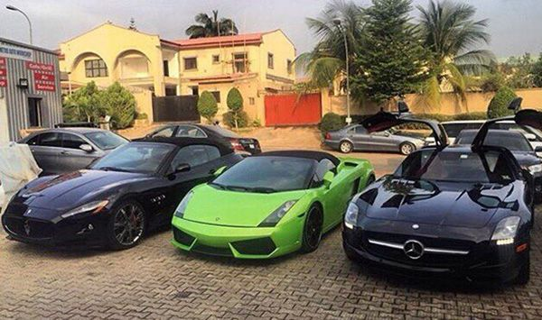 A-line-up-of-supercars-in-Abuja-Nigeria.