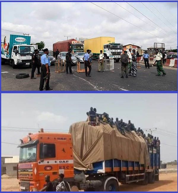 Trucks-conveying-passengers-into-Kaduna-state-sent-back-by-security-agencies-at-border