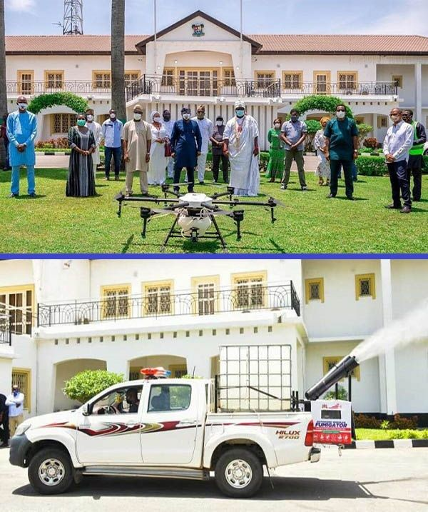 Ooni-of- Ife-donates-drone-sprinkler-and-three-motorized-fumigators-to-Lagos-state