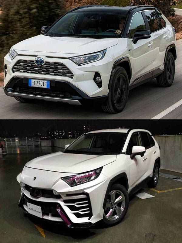 Japanese-custom-body-kit-transforms-a-Toyota-RAV4-crossover-into-a-Lamborghini-Urus-SUV