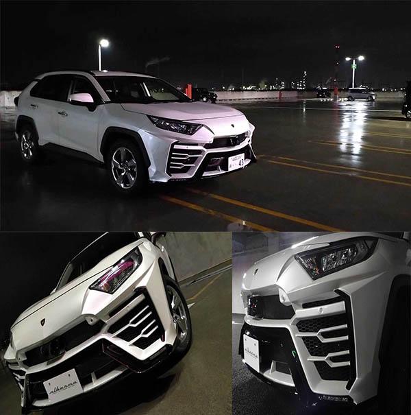 Toyota-RAV4-tuned-to-look-like-a-Lamborghini-Urus-SUV