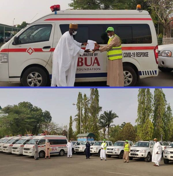 Kano-state-government-receives-donations-from-BUA-Foundation-as-COVID-19-aid