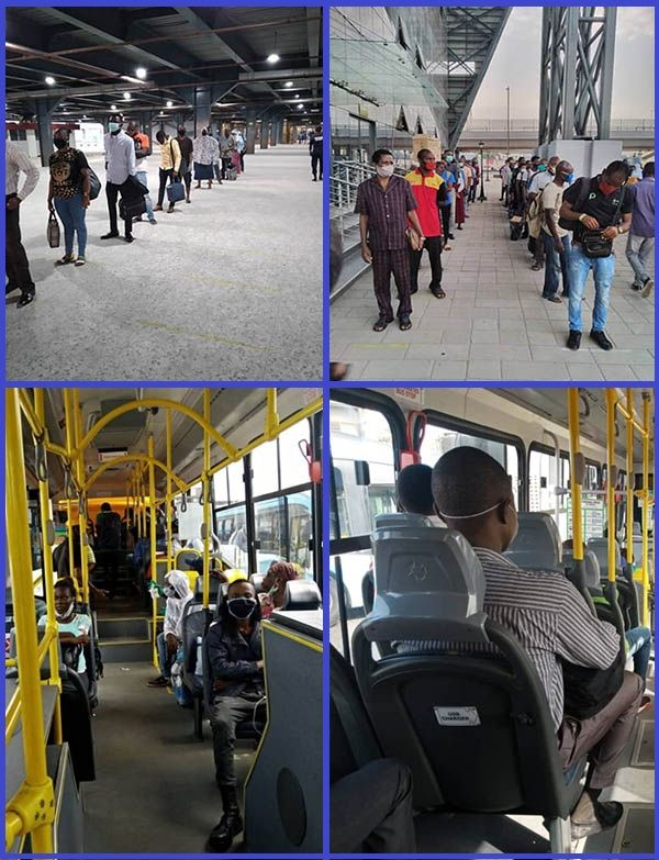 Lagos-BRT-bus-passengers-obeys-social-distancing-directive-of-the-government-in-Oshodi
