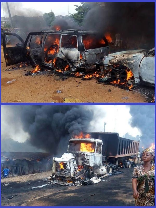 Fuel-tanker-fire-destroy-shops-and-many-cars-in-Moniya-motor-park-Ibadan