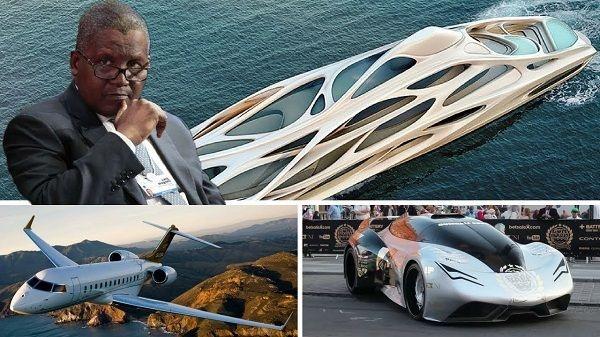 aliko-dangote-and-car-and-yacht