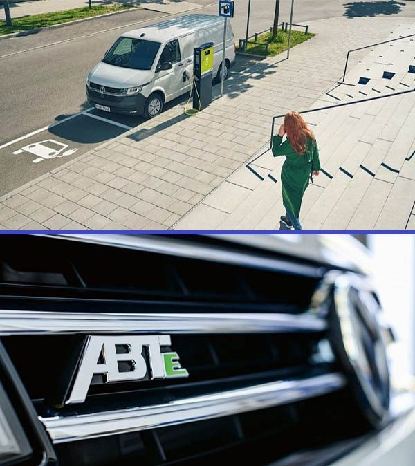 Volkswagen-electric-Transporter-Van-outside-with-woman-and-showing-grille