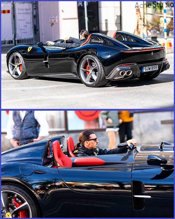 Zlatan-Ibrahimovic-cruises-street-of-Stockholm-in-his-Ferrari-Monza-SP2-sports-car