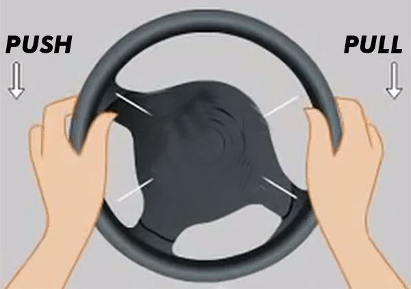 Turning-a-steering-wheel