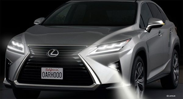 Triple-Beam-LED-headlights-and-cornering-lamps-of-2016-Lexus-RX-350-SUV