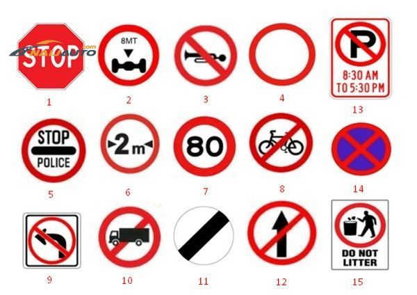 Nigerian prohibitory sign collection