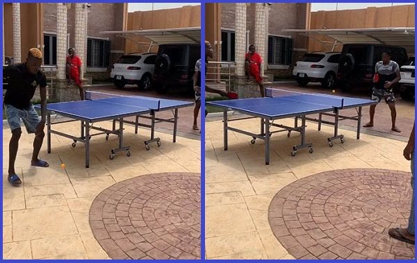 Ahmed-Musa-playing-table-tennis-game-in-his-garage