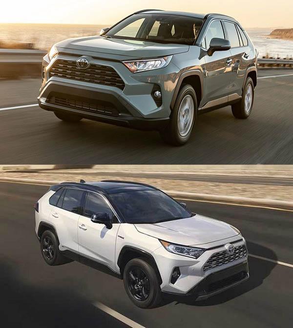 2019-Toyota-RAV4-and-2020-Toyota-RAV4-hybrid-crossover