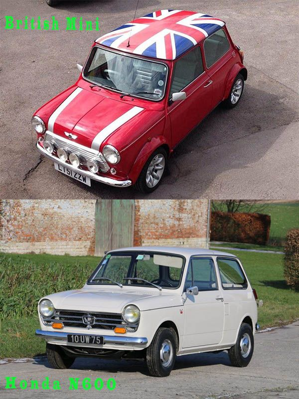 Honda-N360-vs-British-Mini