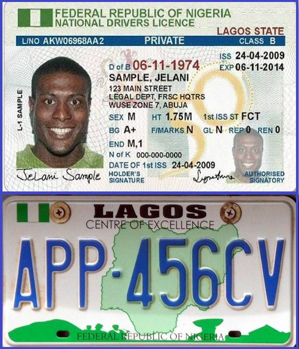 Lagos-drivers-license-and-number-plate
