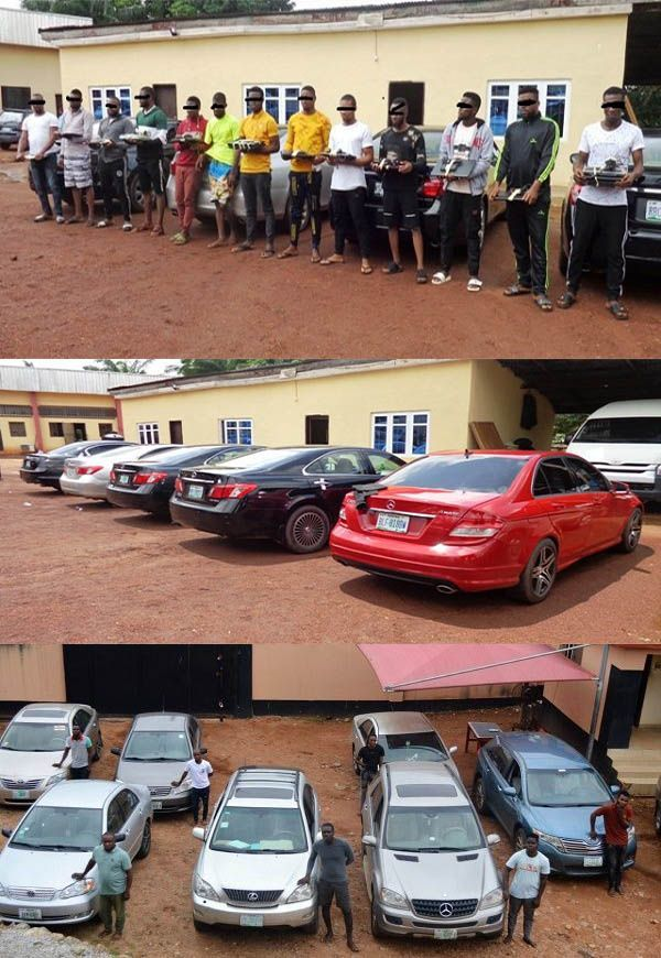 Arrested-Yahoo-Boys-and-their-cars